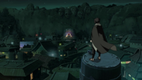 Sasuke returns to Konohagakure