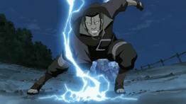 Akaboshi usando el Elemento Rayo