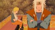 Jiraiya se oferece para treinar Naruto