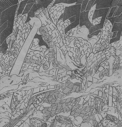 Susanoo equipando a Kurama