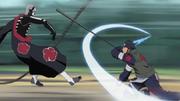 Asuma lutando contra Hidan