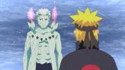 Naruto hablando con Obito