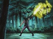 Sasuke é eletrocutado por Aoi