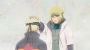Minato rassurant Naruto