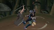 Minato salvando Kakashi