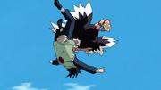 Condor usando Chute Avestruz