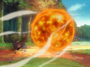 Elemento Fuego Jutsu Gran Bola de Fuego Como una gran bola de fuego Anime