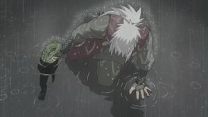 Jutsu Ocultación en un Sapo Anime