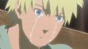 Naruto llora desconsoladamente por Jiraiya