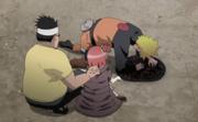 Naruto vomitando as cobras
