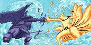 O Susanoo e Kurama batem os punhos (Colorido)