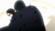 Sasuke protege Sarada
