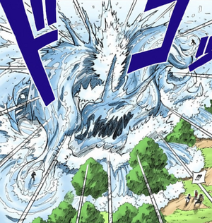 Elemento Agua Jutsu Bala Dragón de Agua Manga
