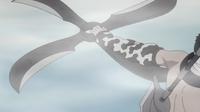 Fūma Shuriken de cuatro cuchillas plegables