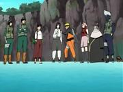 Los refuerzos de Konoha y Chiyo reunidos para salvar a Gaara