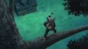 Mizuki encontra Naruto e Iruka