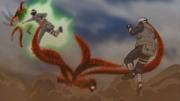Utakata luchando contra Kakashi