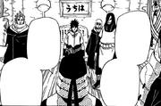 Hiruzen falando com Sasuke
