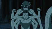 Kabuto utilisant les pouvoirs de Kidômaru