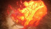 Liberação de Fogo - Técnica do Grande Dragão de Fogo (Sasuke - Boruto)