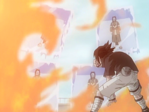Sasuke Trying To Melt The Mirrors