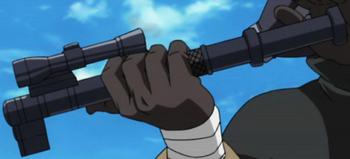 Cañón del arma