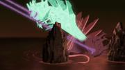 Chōmei resistiéndose a ser extraído de Fū