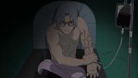 Kabuto infusing Orochimaru's blood