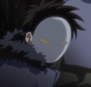 Skopiowana osoba w masce