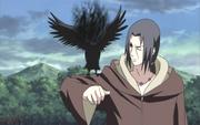 Itachi incinerates the crow-animeipics