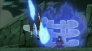 Madara empala al Clon de Hashirama