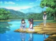 Toki, Sagi y Chishima de niños