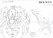 Arte Pierrot - Aranha de Kidomaru