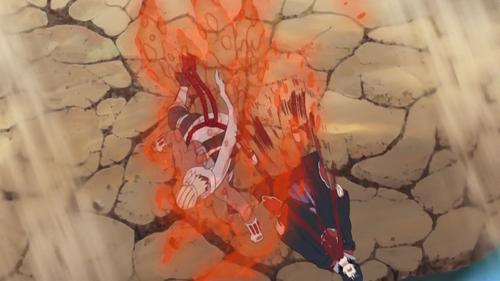 B acerta Sasuke com Lariat