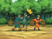 Naruto entrenando con los impostores