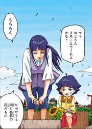 Hinata y Himawari visitan la tumba de Neji