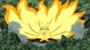 Modo Kurama coletando energia natural