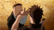 Shisui immobolizes Danzo