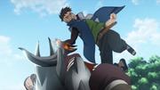 Kawaki ataca a Garo