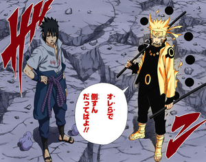 Naruto y Sasuke juntos para luchar otra vez Manga
