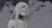 El rostro de Hiruko despues de usar el jutsu Quimera