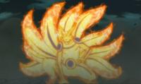 Naruto transformado en Kurama