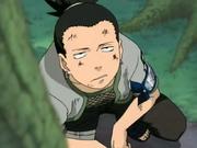 Shikamaru olhando para as nuvens