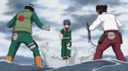 Tenten and Rock Lee vs Guren