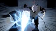 Kakashi et Obito se transpercent mutuellement