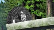 A criatura teletransporta Shin