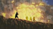 Asuma asesina al Trío de Ninjas de la Primera División