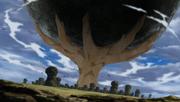 Gaara arrête la météorite
