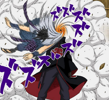 Tobi succiona a Sasuke
