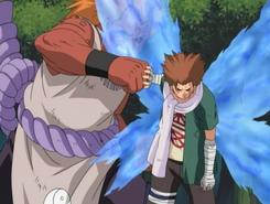 Chōji stops Jirōbō